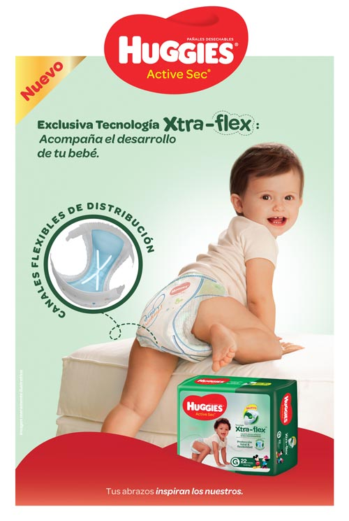 Nuevo Huggies Xtra-flex