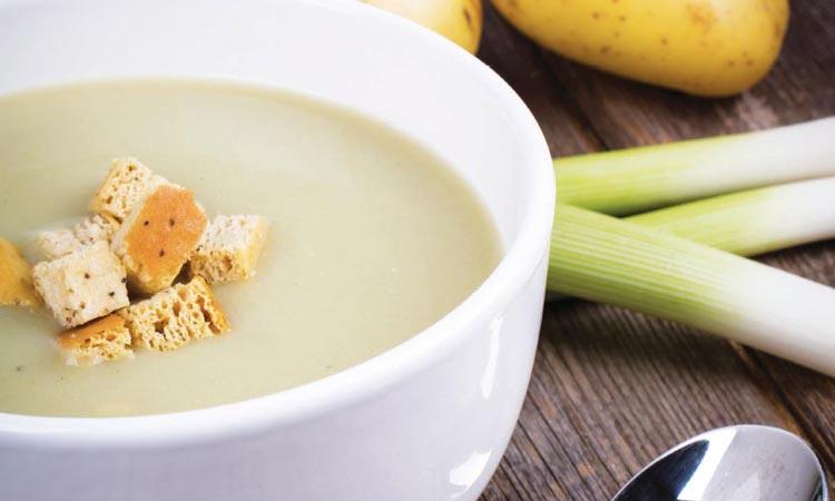 sopa de papa y puerro