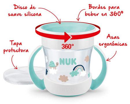 Con los vasos NUK Evolution Cup, aprender a beber es mucho más fácil |  Revista Ahora Mamá